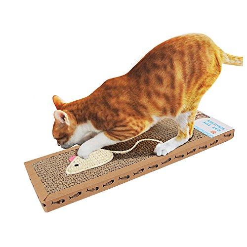 Cat Scratcher, DiscoverMe8 Corrugated Safe Card Board Scratcher Catnip Bed
