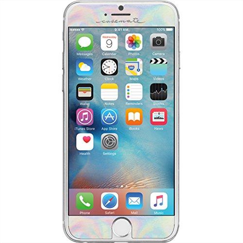 Case-Mate Gilded Glass - Protector de pantalla vidrio con diseño metálico, fácil de aplicar, 9H (0.33mm) para Apple iPhone 7 / 6 / 6S, color iridiscente