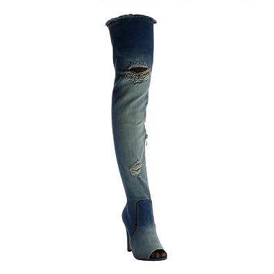 Angkorly Flexible Boot Oberschenkel Stiefel Damen Schuhe UVpSMGzq