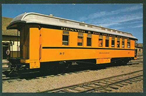 Denver & Rio Grande Western RR Train Narrow Gauge Passenger Car Station Railroad Postcard
