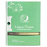 Natural Green Tea Oil Absorbing Tissues - 100 Counts, Premium Face Oil Blotting Paper - Take Only 1 Piece Each Time Design - Large 10cmx7cm Oil Absorbing Sheets, No Waste and Easy to Carry in Pocket!