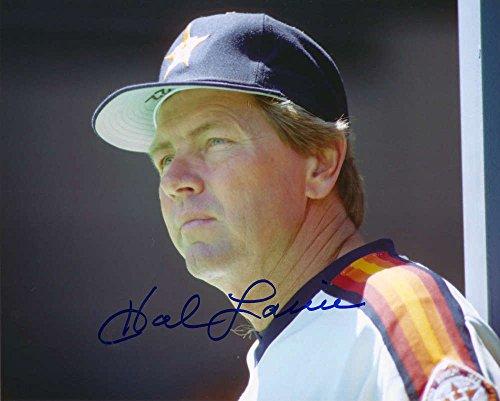 Hal Lanier Autographed Astros 8 x 10 Photo 2