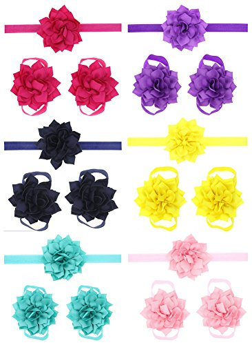 Qandsweet Toddlers Headbands Barefoot Flowers product image