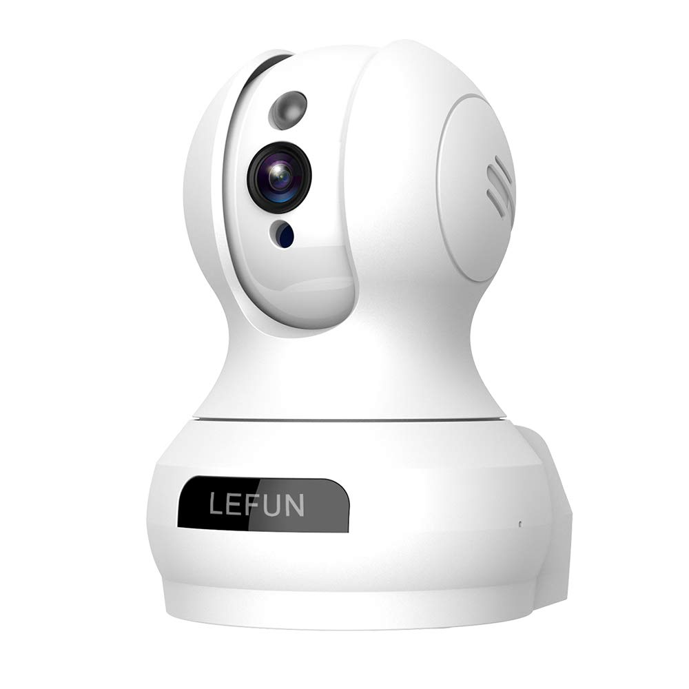Lefun Wireless IP Security Camera Indoor Camera with Motion Detection Night Vision 2-Way Audio Pan/Tilt/Zoom Supports 2.4G Wi-Fi for Home Surveillance Baby/Elder/Pet Monitor by LeFun