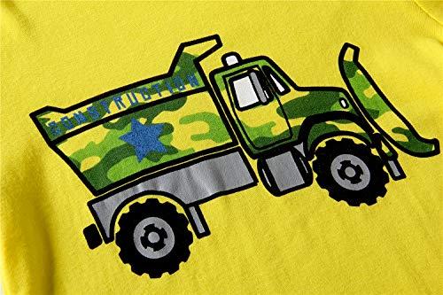 Older Boys Pyjamas for Kids Toddler Bulldozer Nightwear Sleepwear Long Sleeve Pjs Set Size 6-7 Years 7T