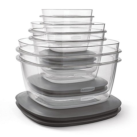 (Premier 12-Piece Food Storage Set in Grey)