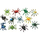 U.S. Toy Multi-Color Mini Plastic Spiders (SKU 1192) - 12 Pack