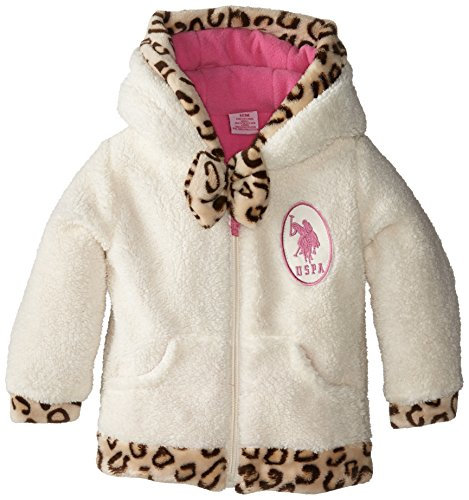 us-polo-assn-baby-girls-coral-fleece-jacket-with-faux-fur-leopard-print-trim-winter-white-18-months