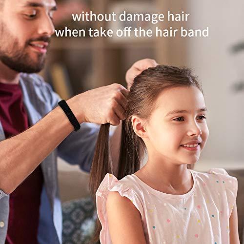 100PCS Black Hair Ties for Women Girls, Seamless Thick Black Hair Band, Elastic Hair Ties No Damage Ponytail Holder