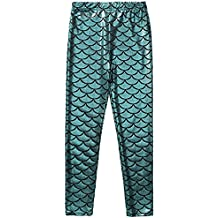 Frogwill Girls Mermaid Scale Leggings Fish Pants 3-11 Years