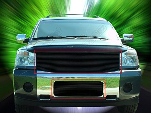 Fedar 2004-2007 Nissan Armada/Titan Replacement Style Combo Billet Grille Grill 2-pcs Set-Black #320253062 (Nissan Titan Accessories Grill compare prices)