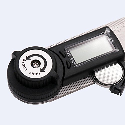 KOBWA Digital Angle Ruler with LCD Display Angle Finder Protractor Gauge Ruler 200mm Measure Tools by KOBWA (Image #1)