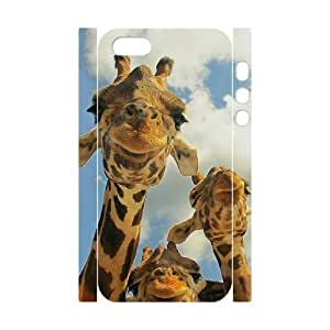 ALICASE Diy Customized Case Giraffe 3D Case for iPhone 5,5S [Pattern-5]