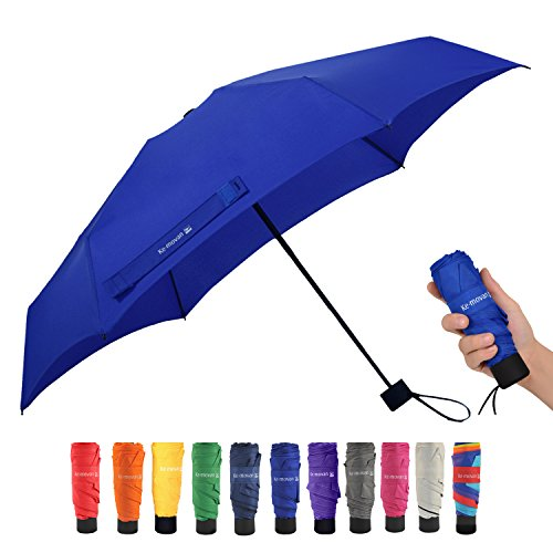 Travel Compact Umbrella Mini Sun Umbrella Ultra Light Parasol - Fits Men & Women (Ver 1.-Royal Blue)