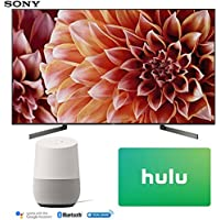 Sony XBR75X900F 75-Inch 4K Ultra HD Smart LED TV (2018 Model) with Google Home (White) + Hulu $50 Gift Card