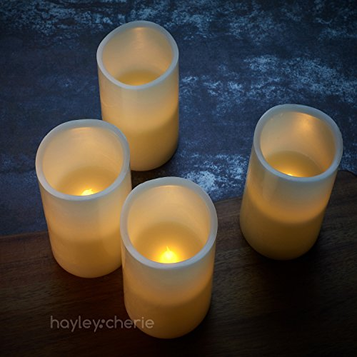 Hayley Cherie Real Wax Flameless Candles With Timer Set