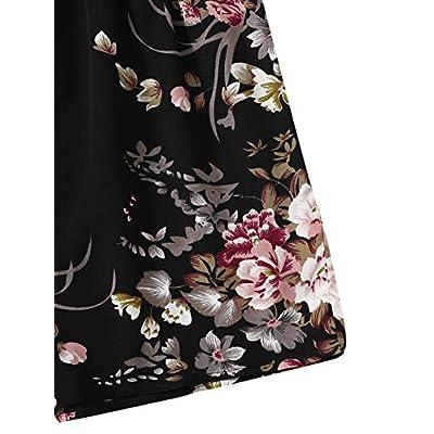SheIn Women's V Neck Tropical Print Elastic Waist Tulip Hem Cami Romper: Clothing