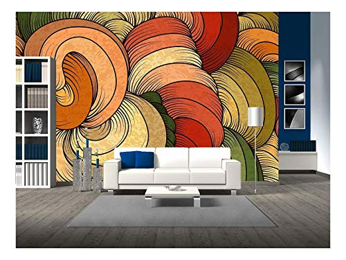 (wall26 - Vector - Seamless Abstract Pattern - Removable Wall Mural | Self-Adhesive Large Wallpaper - 66x96 inches)