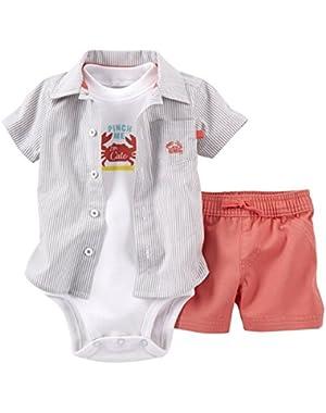 Baby Boys' 3 Piece Woven Shorts Set (Baby)