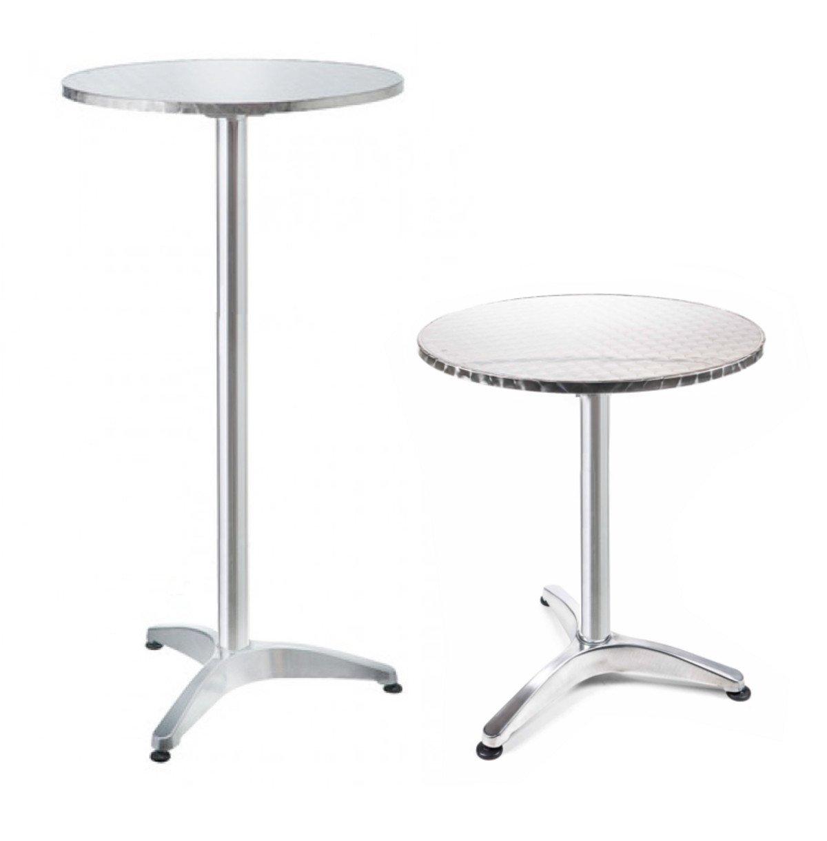 Stehtisch, Stehtisch, Stehtisch, Bistrotisch höhenverstellbar ca. 75 114 cm, Rund Ø 60 cm, Tischplatte klappbar 7b8292