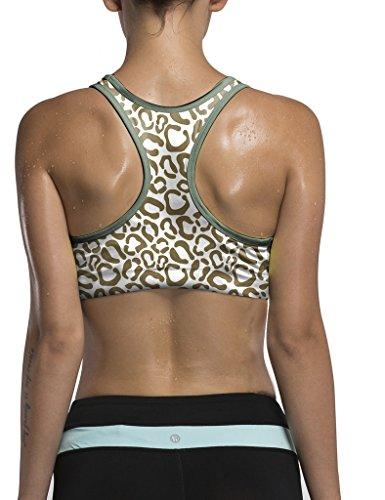 Sujetador deportivo-Camiseta con Push-up sin armadura unido Yoga correr de mujer, tallas y colores SJ7