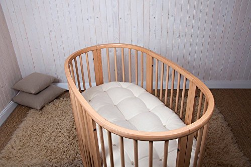Home of Wool / Handmade Wool-Filled Mattress / STOKKE Sleepi Junior, Bed or Mini Size / Cover - Cotton, Linen or Lambswool / Organic Wool Filling/ Non-toxic Nursery Bedding / Custom Sizes Available (Table Stokke Changing)