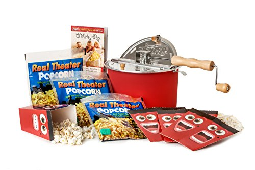 Original Whirley Pop Stovetop Popcorn Popper – Theater Style Popcorn Set - Perfect Popcorn in 3 Minutes, Makes a Great Gift