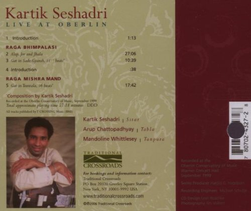 Kartik Seshadri: Live at Oberlin by Trad. Crossroads
