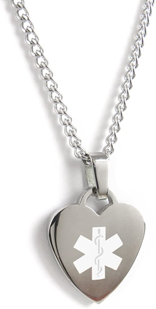 My Identity Doctor – Custom Engraved Medical Alert Necklace, 316L Steel