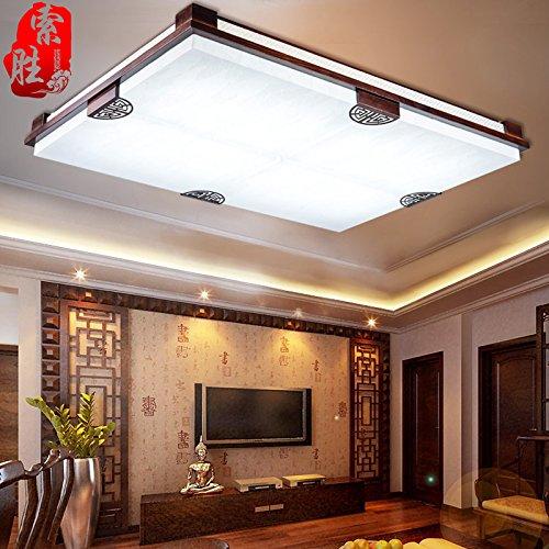 BLYC- Modernen chinesischen Stil Decke Lampe solid geschnitzten Pergament Lampe Dimmen led Studie Lampe Schlafzimmer Wohnzimmer Lampe Lampe nationalen 875 * 650mm