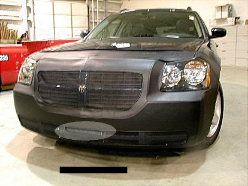 Lebra 2 piece Front End Cover Black - Car Mask Bra - Fits - DODGE,MAGNUM,2005 thru 2007