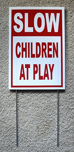 Guardian Side Box Boards (1Pc Excelling Popular Slow Children at Play Yard Sign 1-Side Board Protection Coroplast Size 8