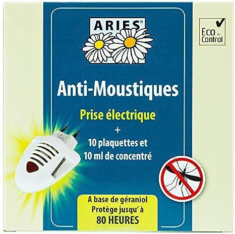 ARIES, Anti-Moustiques, prise électrique + recharge 10 plaquettes
