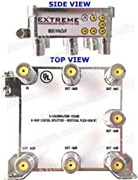 EXTREME 6 WAY BALANCED HD DIGITAL 1GHz HIGH PERFORMANCE COAX CABLE SPLITTER - BDS106VF by Extreme