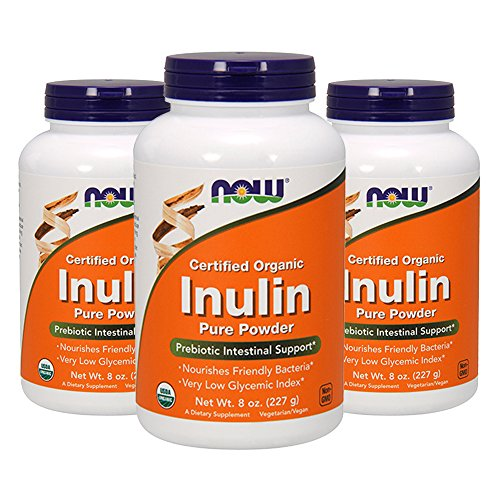 NOW Foods Inulin (Certified Organic) - 8 oz (Pack of 3)