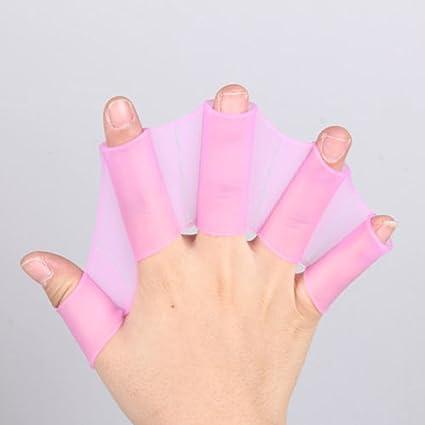 Schwimmen Finger Webbed Handschuhe Flipper Flossen Paddel Frosch Handschuhe