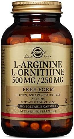 Solgar – L-Arginine/L-Ornithine 500/250 mg, 100 Vegetable Capsules