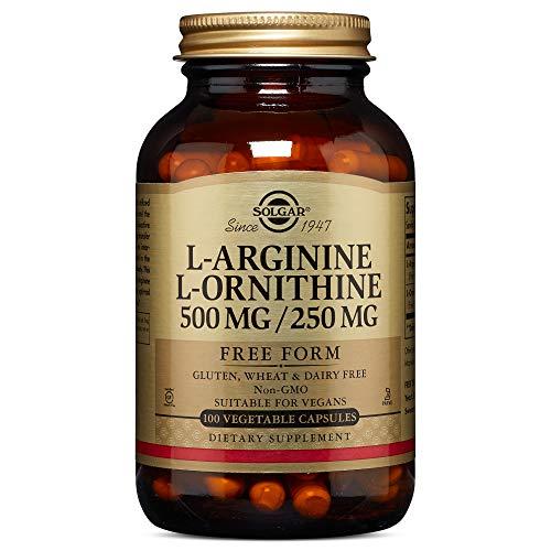 Solgar - L-Arginine/L-Ornithine 500/250 mg, 100 Vegetable Capsules