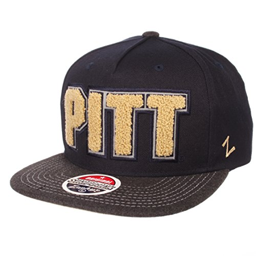 (Zephyr NCAA Pittsburgh Panthers Men's Jock Snapback Hat, Adjustable, Gray/Team Color )