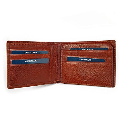 Wallet Orizzontale Navigare In Blu Tessere 5x2 Formato Cognac Cm Pelle E Portamonete Sottile Portafoglio 12x9 Uomo Documenti Banconote Con Vera Porta Classico 1IFCPxq