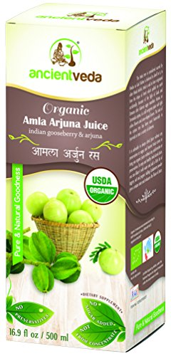 Amla Juice - Organic Amla Arjuna Juice 500 ml, USDA Organic - Ancient Veda