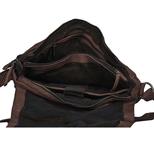 vilenca Holland 40698marrón unisex vintage bolso bandolera maletín funda Business Ledertasche piel Laptoptasche piel de búfalo l36cmxh23cmxb11cm