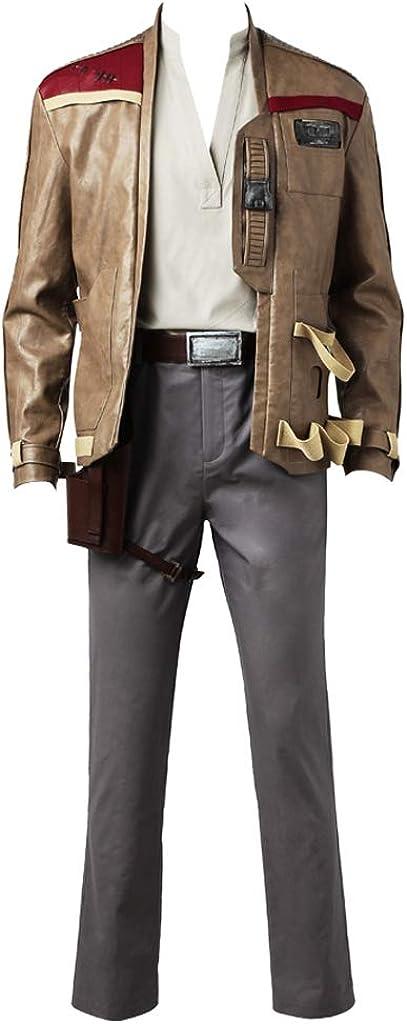 CosplayDiy Men's Suit for The Last Jedi Finn Cosplay Costume