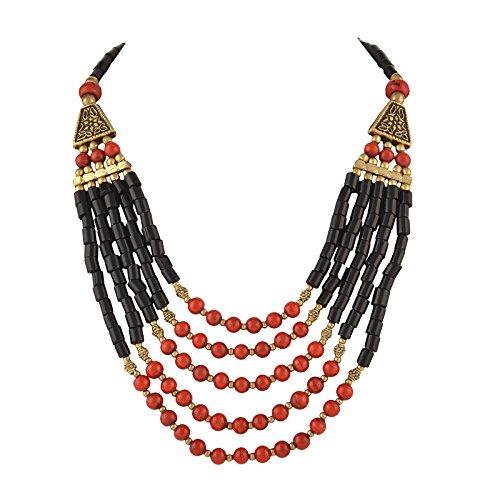 Zephyrr Fashion Tibetan Handmade Beaded Multi Strand Necklace for Women