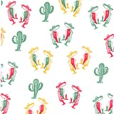 12X12 Mexican Peppers & Cactus Grease Resistant Basket Liner (2000/CS) McN # 018193