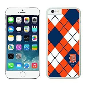 Detroit Tigers iphone 6 Plus Cases 087 White iphone 6 Plus cases-Slim Bumper Case with Soft Flexible TPU material for Scratch Resistant by kobestar