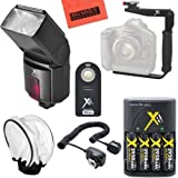 SB800 Pro Series Digital DSLR Dedicated Flash PRO Kit For Nikon DF, D90, D3000, D3100, D3200, D3300, D5000, D5100, D5200, D5300, D5500, D7000, D7100, D7200, D300, D300s, D600, D610, D700, D750, D800, D800e, D810, D810A Digital SLR Camera
