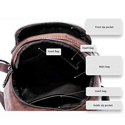 Morbido Selvaggio Zaino Tendenza Casual Vento Piccolo Backpack Femminile A In Pelle Britannico color Retrò Da Donna A wd80CCOqPc