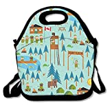 Boy Scouts Camp Turtle Lunch Bag Lunch Tote Lunch Pouch Handbag Made For Women, Men And Kids
