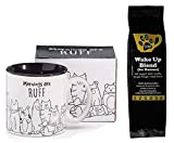 Puppy Dogs Mornings are Ruff Coffee Mug and Lazy Dog Wake Up Blend Coffee for Humans Gift Set Bundle (2 Items)